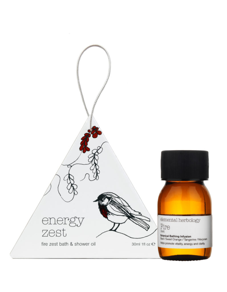Elemental Herbology Fire Zest Bath & Shower Oil  tree ornament