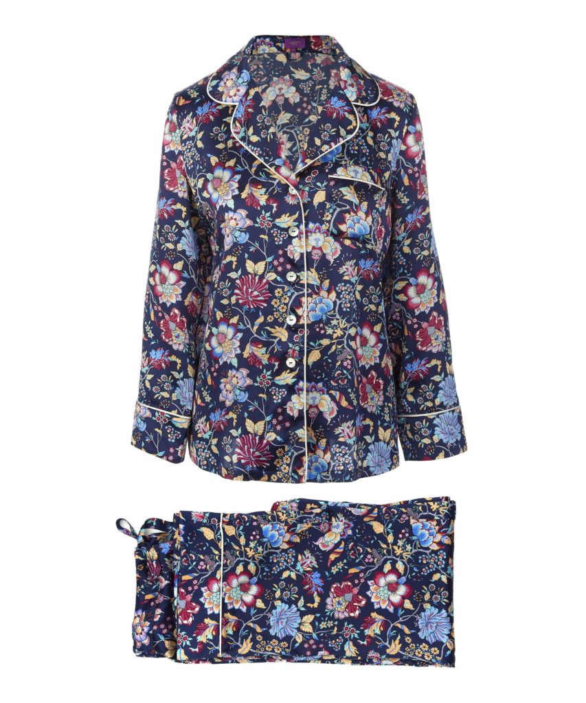 Liberty London Christelle long silk pyjama set